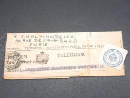 YOUGOSLAVIE - Télégramme De Dubrovny Pour Paris En 1937 - L 18765 - 1931-1941 Royaume De Yougoslavie