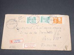 YOUGOSLAVIE - Enveloppe En Recommandé De Zagreb Pour Paris En 1947 , Affranchissement Plaisant - L 18767 - Lettres & Documents