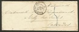 Enveloppe Avec Cachet Maison Du Roi-1847 - Marcophilie (Lettres)