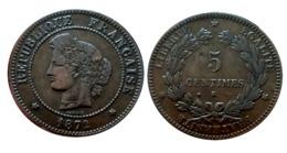 CERES 5 Centimes 1872 Petit K (Bordeaux) TTB+ A VOIR!! - C. 5 Centimes