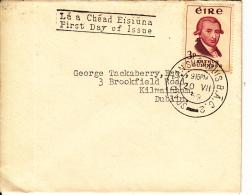 Ireland 1952 FDC To Dublin Scott #171 3p Arthur Guiness - FDC