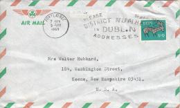 Ireland 1969 Cover To USA Scott #262 1sh9p Stag - 1949-... République D'Irlande