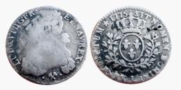 RARE!!! LOUIS XVI 1/5 Ecu 1775 L (Bayonne) GADOURY R2 ARGENT A VOIR!!! - 987-1789 Monnaies Royales