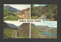 Pc Stamp 1974 UK NORTH WALES PASSES SYCHNANT ABERGLASLYN LLANBERIS NANT FFRANCON - Pays De Galles