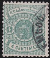Luxembourg     .    Yvert    .    28        .     O     .        Oblitéré    .      /     .    Gebraucht - 1859-1880 Wapenschild
