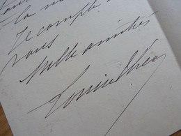 Louise THEO (1850-1922) Chanteuse OPERETTE & Comédie Musicale. [ Offenbach ] AUTOGRAPHE - Autographs
