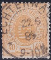Luxembourg     .    Yvert    .     35    .     O     .        Oblitéré    .      /     .    Gebraucht - 1859-1880 Wapenschild
