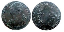 2 Sols LOUIS XVI 1791 A. (Paris) PATINE ++++ A VOIR!! - 987-1789 Monnaies Royales