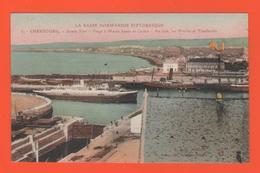 ET/181 BASSE NORMANDIE CHERBOURG AVANT PORT PLAGE A MAREE HAUTE CASINO AU LOIN LES MIELLES ET TOURLAVILLE - Cherbourg