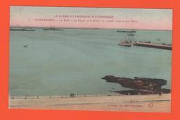 ET/181 BASSE NORMANDIE PITTORESQUE CHERBOURG  RADE DIGUE LA GRANDE JETEE ET SON PHARE N°3 - Cherbourg
