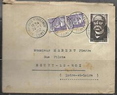 LF B81  Lettre De 1952 De St Maurice Sur Aveyron Timbres N°883x2 Et 918 - 1921-1960: Période Moderne