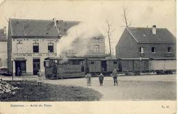 Crainhem Kraainem Arrêt Du Tram 1913 Stoomtram Tram à Vapeur - Kraainem