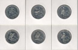 Burundi. Set, Set Of Coins. 5 Francs. Birds. 6 Coins. UNC. 2014 - Burundi