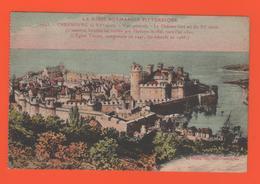ET/181 BASSE NORMANDIE PITTORESQUE CHERBOURG LE CHATEAU FORT ENCEINTE EGLISE TRINITE - Cherbourg