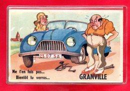 50-CPA GRANVILLE - CARTE A SYSTEME DE 10 VUES DE GRANVILLE - Granville
