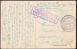 ITALIA - CAMPO CONCENTRAMENTO FRASCHETTE Di Alatri Bar. 34 - To FIUME - 29. XII 1942. - 1900-44 Victor Emmanuel III