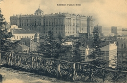 1920 , MADRID , TARJETA POSTAL CIRCULADA , PALACIO REAL , HAUSER Y MENET - Madrid