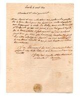 64 - ESCOT . NAVARRENX . LETTRE ADRESSÉE À MONSIEUR LE CHEVALIER DE ROBY LE 04 AVRIL 1830 - Réf. N°94F - - Manuscripts