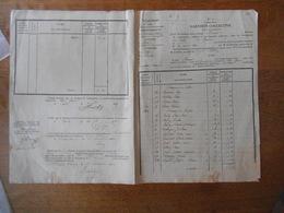 10 7bre 1833 GARNISON COLLECTIVE COMMUNES DE CELLES ET BAULNE ARRONDISSEMENT DE CHATEAU-THIERRY ETAT DES SOMMES DUES AU - Documents Historiques