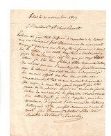64 - ESCOT . NAVARRENX . LETTRE ADRESSÉE À MONSIEUR LE CHEVALIER DE ROBY LE 30 NOVEMBRE 1819 - Réf. N°95F - - Manuscripts