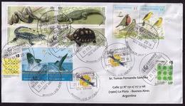 Argentina - 2018 - Lettre - Reptiles - Oiseaux - Mammifères Marins - Faune Diverse - Lettres & Documents