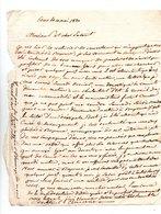 64 - ESCOT . NAVARRENX . LETTRE ADRESSÉE À MONSIEUR LE CHEVALIER DE ROBY LE 10 MAI 1820 - Réf. N°98F - - Manuscripts
