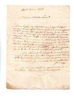 64 - ESCOT . NAVARRENX . LETTRE ADRESSÉE À MONSIEUR LE CHEVALIER DE ROBY LE 24 MAI 1831 - Réf. N°100F - - Manuscripts