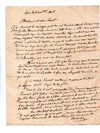 64 - ESCOT . NAVARRENX . LETTRE ADRESSÉE À MONSIEUR LE CHEVALIER DE ROBY LE 15 NOVEMBRE 1825 - Réf. N°101F - - Manuscrits