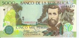 Colombia. Banknote. 5000 Peso. Portrait Jos? Silva. The Woman On The Avenue Of The Park. UNC. 2012 - Colombia