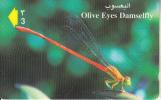 OMAN(GPT) - Olive Eyes Damselfly, CN : 41OMNQ/B, Used - Oman