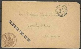 1924 France Francia STORIA POSTALE Busta 'Aeronautique De L'Arme Du Levant' Viaggiata Aerea - Storia Postale