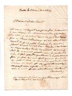 64 - BARDOS . NAVARRENX . LETTRE ADRESSÉE À MONSIEUR LE CHEVALIER DE ROBY LE 05 DÉCEMBRE 1829 - Réf. N°105F - - Manuscripts