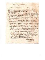 64 - ESCOS . NAVARRENX . LETTRE ADRESSÉE À MONSIEUR LE CHEVALIER DE ROBY LE 03 JUILLET 1828 - Réf. N°106F - - Manuscrits