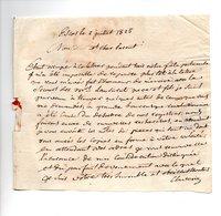 64 - ESCOS . NAVARRENX . LETTRE ADRESSÉE À MONSIEUR LE CHEVALIER DE ROBY LE 02 JUILLET 1825 - Réf. N°107F - - Manuscrits