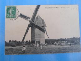 CPA MOULIN A VENT NOYELLES SUR MER - Windmills
