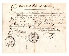 FACULTÉ DES LETTRES DE BORDEAUX. DIPLÔME. HIARD PIERRE, DOMINIQUE, LÉON. 19/08/1854. ATTESTATION .MUGRON - Réf. N°108F - - Diplômes & Bulletins Scolaires