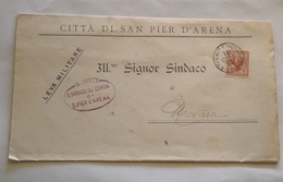 ITALIA, 1913, CHIAMATA ALLE ARMI SAN PIER D'ARENA VIAGGIATA - Storia Postale