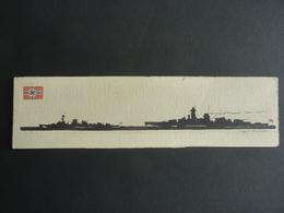 DESSIN Silhouette Encre De Chine  Marine Allemande  / J. DALLOZ -Croiseur Léger Leipzig + Admiral Scheer Cuirassé - Bateaux