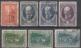 BULGARIA - 1922 - Lotto Composto Da Sette Valori Usati, Come Da Immagine. - 1909-45 Regno
