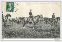 Militaria - En Manoeuvres - Colonel De Dragons Sur Le Champ De Manoeuvres - Manovre