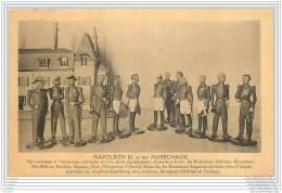 Militaria - Napoleon III Et Ses Marechaux - Statuettes En Bois Peint - Soldats Miniatures - Personaggi
