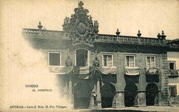 OVIEDO ASTURIAS EL HOSPICIO COLECCION ASTURIAS SERIE E Nº 10 FOTO VILLEGAS REVERSO SIN DIVIDIR - Asturias (Oviedo)