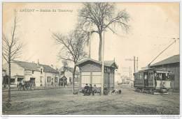 92 - ANTONY - Station Du Tramway (beau Plan) CLC 1 En 1904 - Antony