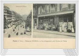 75001 - PARIS - Restaurant Zelenka 12 Rue D'Argenteuil Pres L'Avenue De L'Opera - Arrondissement: 01