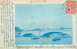 75007 - PARIS - Carte Photo Couleur - Une Course De Canots Automobiles En Seine Au Pont Des Invalides - Arrondissement: 07