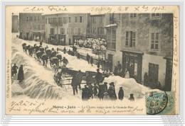 39 - MOREZ - Le Chasse Neige Dans La Grande Rue - Morez