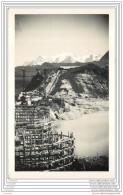 Carte Photo De La Construction D'un Barrage - Tignes ? Genissiat ? - Architectuur