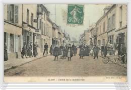 77 - CLAYE SOUILLY - Centre De La Grande Rue (animee Couleur) - Claye Souilly