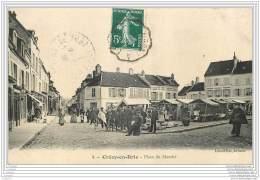 77 - CRECY EN BRIE - Place Du Marche (animee) - Autres Communes