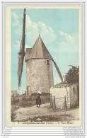 85 - L'AIGUILLON SUR MER - Le Vieux Moulin A Vent (carte Provenant D'un Carnet) - Francia